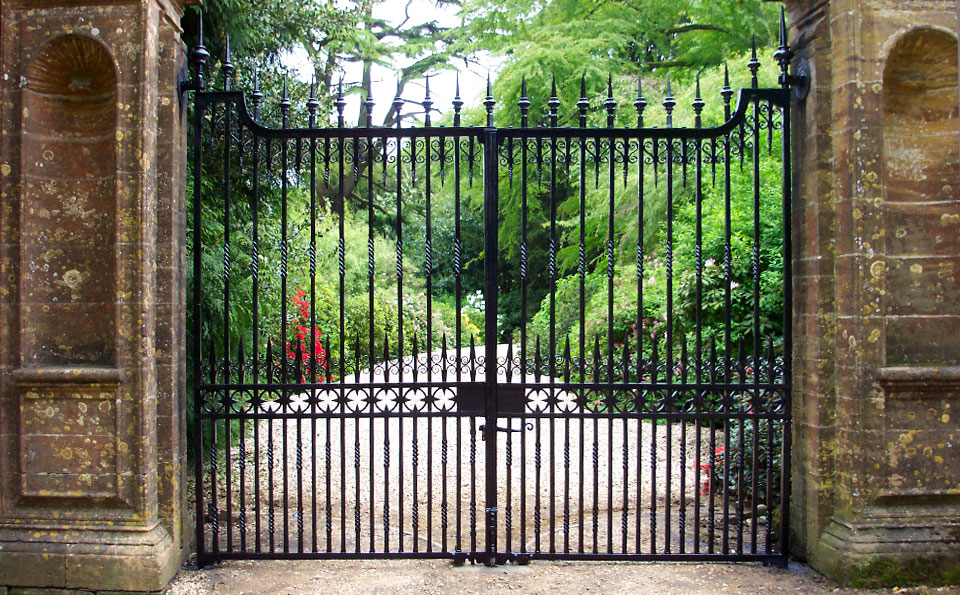 Bespoke wrought iron gates made and restored