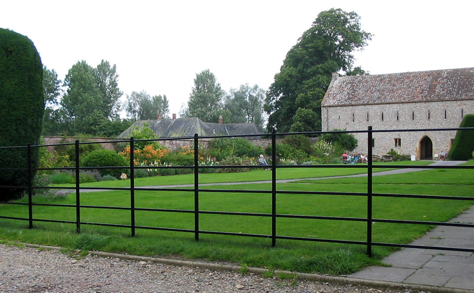 ... Traditional Metal Fencing Around This Communal Garden