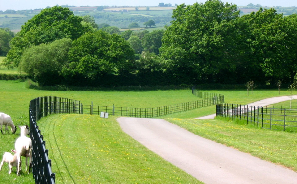 Parkland fencing on this estate